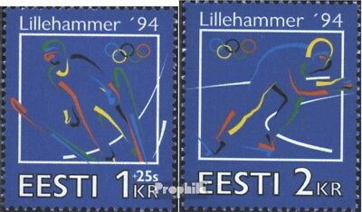 Estonia 221-222 (complete issue) unmounted mint / never hinged 1994 Winter Games