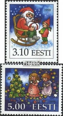 Estonia 336-337 (complete issue) unmounted mint / never hinged 1998 christmas