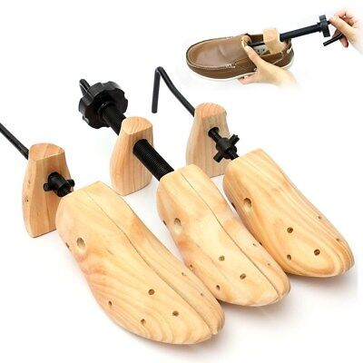 1x Mens Cedar Wood Shoe Tree Shaper Wooden Stretcher Bunion Corn Blister Keeper
