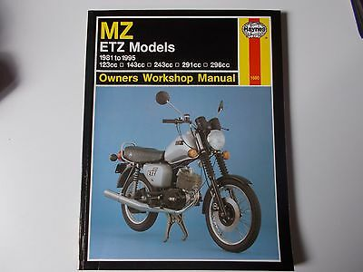 Haynes MZ Etz Manual 1981 to 1995 No1680