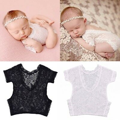 Baby Children Newborn Photography Props Lace Romper Siamese Clothes Baby New
