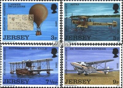 united kingdom-Jersey 81-84 (complete issue) used 1973 Aviation