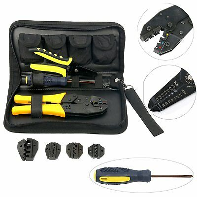 Crimping Tool Kit 5 Changeable Die Sets for Insulated&Non-insulated 0.5-35mm2