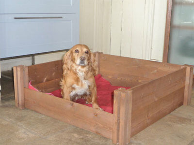Wooden Dog and Puppy Whelping Box Litter Timber Flat Plack Re-Usable