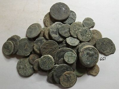 Lot of 50 Uncleaned Ancient Roman Coins; 150 Grams!