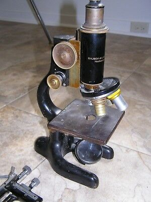 Optical Microscope Jan 5 1915 Bausch & Lomb COMPLETE w/ extra light aperture