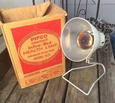 Vintage PIFCO Infrapower Deep Heat - Health Lamp - Working -Australian Model H/L