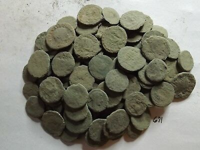 Lot of 120 Lower Quality Uncleaned Ancient Late Roman Coins; 179 Grams!
