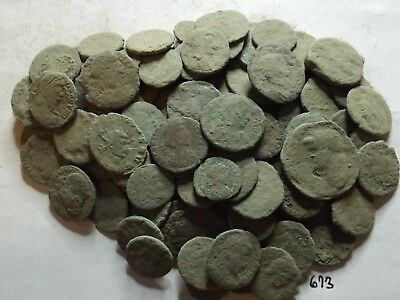 Lot of 110 Uncleaned Ancient Roman Coins; 194 Grams!