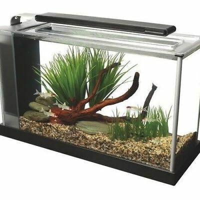 Fluval Spec Aquarium 10L  19L Gloss Black White Led Light Hagen Fish Tank