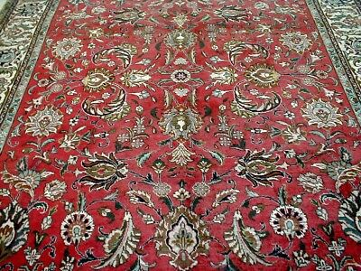 8X12 1940's AUTHENTIC HAND KNOTTED 70+YRS ANTIQUE WORN WOOL TABRIZ PERSIAN RUG