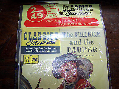 VERY RARE  -  CLASSICS ILLUSTRATED 2 FOR 49¢ pack tag. Vintage 2 pack topper