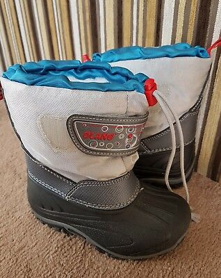 Kid's Olang Dotto Winter Silver Boots UK 6/7
