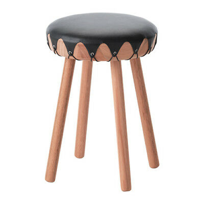 Ikea Tillfalle Leather padded wooden stool 503.119.57 £65 NEW