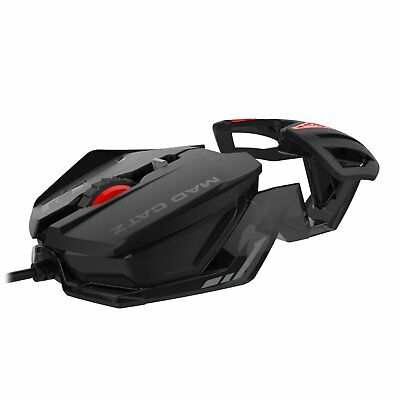 MAD CATZ RAT 1 Optical PC Windows Programmable Gaming Mouse * NEW Black and Red