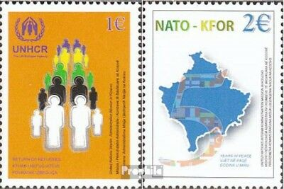 kosovo (UN-Administration) 18-19 fine used / cancelled 2004 NATO+KFOR-Troops in