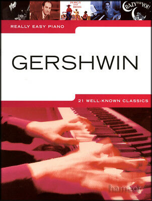 Really Easy Piano Gershwin Sheet Music Book