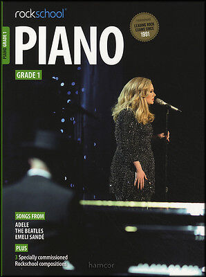 Rockschool Piano Grade 1 Exam Sheet Music Book/Audio Adele Beatles Emeli Sande