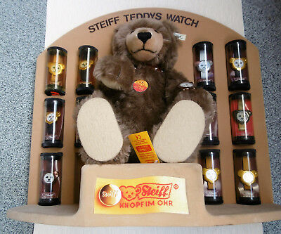 STEIFF TEDDY WATCH     MIT 12 ARMBANDUHREN UND DISPLAY limitiert