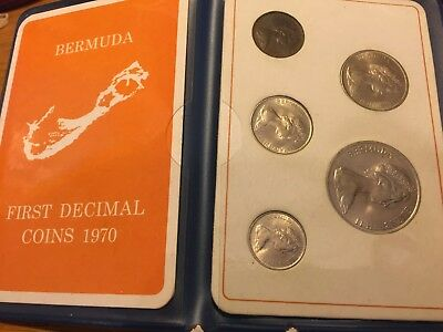 1970 Bermuda First Decimal Coins 1970 Set in Display BUY-IT-NOW O.B.O. Inv.#327