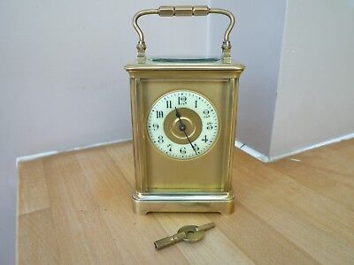 Lovely Antique Brass Carriage Clock