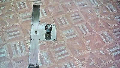 Vintage pair  of Copper Door Finger Plate Key hole with bronze brass knob handle