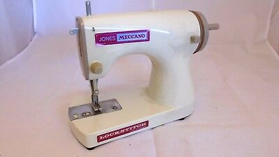 Vintage Jones Meccano Lockstitch Children's Hand-Operated Sewing Machine
