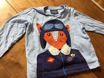 Gorgeous Joules Baby Boy Top With Fox Motif Size 12-18 Months 86cm