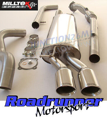 Milltek Golf MK4 Exhaust 1.8T System Non Res & De Cat Downpipe Twin GT80