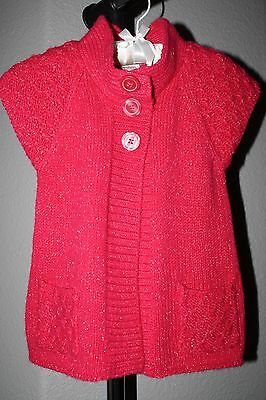 Arizona Jean Co. Knit Cardigan/Sweater ~ Pink with Glam 4T
