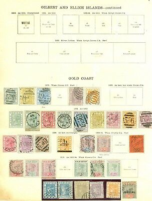 Gold Coast 1876-1935 mint & used collection on album pages. Values to 20/-...
