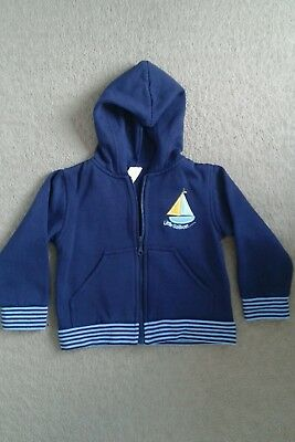 Boys Navy Zip up Hoodie (12-18 months)