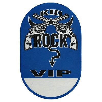Kid Rock Authentic 1999 Between the Legs Tour satin cloth Backstage Pass VIP