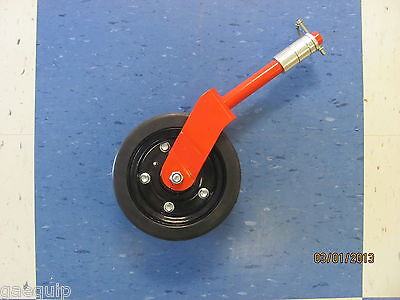 "Complete Finishing/grooming Mower Wheel Assembly 8"" Maschio Caroni Many More"