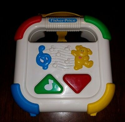 Vintage Fisher Price First Touch Crib Toy Cassette Tape Player 1992 EUC