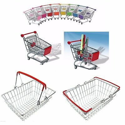 Stainless Steel Mini Wire Shopping Utility Trolley Office Presentation Basket