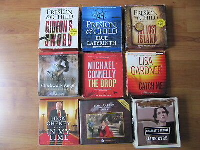 Lot of 9 Audio Books on CDs, Variety of Titles