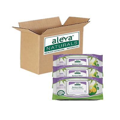 Aleva Naturals Bamboo Baby Wipes 240-Count (Pack of 4) Original 240ct