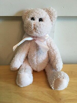 """The Bearington Collection Baby Pink Jointed Cuddles 10"""" Teddy Bear Toy Stuffed"""