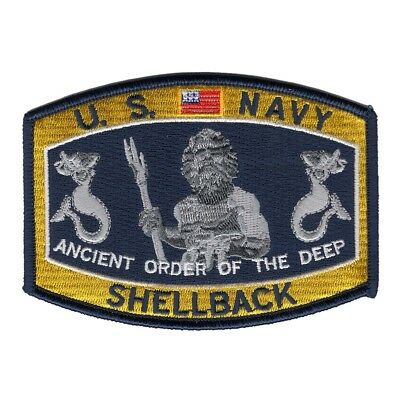 Usn Navy Shellback Ancient Order Of The Deep Patch Neptune Trusty Cross Line