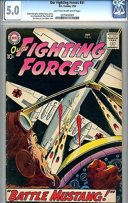 """Our Fighting Forces #41 CGC GRADED 5.0 - """"Unknown Soldier"""" tryout (1959)"""