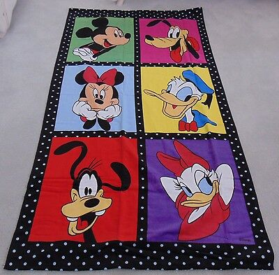 "New Disney Exclusive Mickey and Friends Beach Towel  86""  x  163""   100% Cotton"