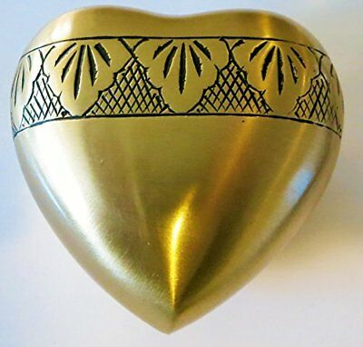 Funeral Heart Keepsake Urn - Gold Cremation Urns For Human Ashes - 2814H