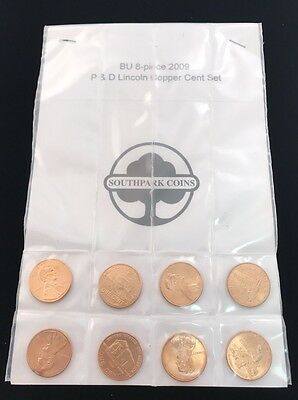 BU-8 Piece 2009 P&D Lincoln Copper Cent Set