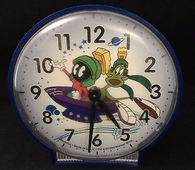 Vintage 1994 Marvin Martian Warner Bros.Westclox Wind Up Alarm Clock Made in USA