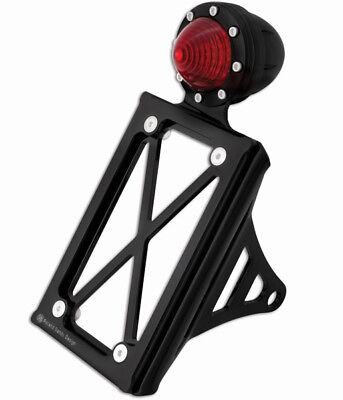 Roland Sands Design Vertical Gloss Black Taillight with License Plate Holder