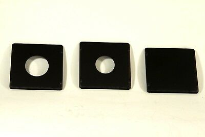 Lens Boards for Speed Graphic, Crown Graphic and Super Graphic,