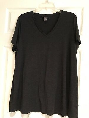 EUC A Pea in the Pod Maternity Gray Trapeze T Shirt Top Tee Size Large