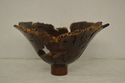Hap Sakwa Wild Lilac Turned Wood Lotus Wooden Bowl 1982