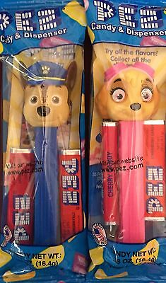 PEZ - 2017 Paw Patrol - Chase & Skye - Set of 2 - MIB